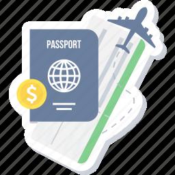 card, id, identification, identity, passport, permit icon