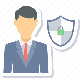 employee, insurance, protection, shield icon