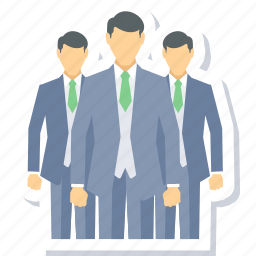 business team, businessman, group, team icon
