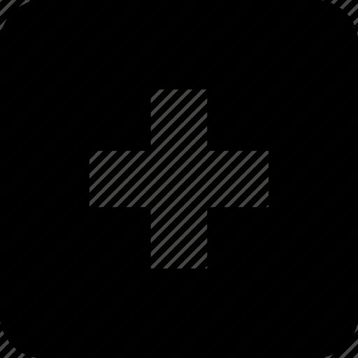 control, media, player, plus, remote, square icon