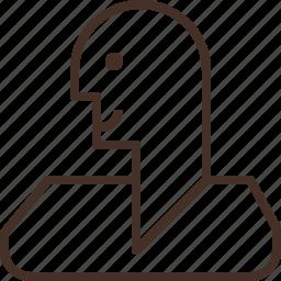 account, head, human, man icon