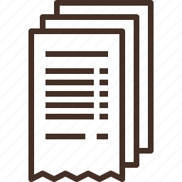 bill, due, invoice, payment, receipt icon