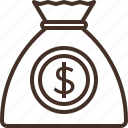 bag, budget, coin, money icon