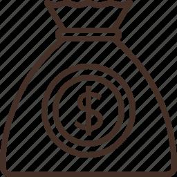 bag, budget, coin, money icon