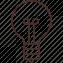 bulb, creative, idea, light, lightbulb, misc icon