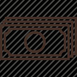 bill, cash, money, payment icon