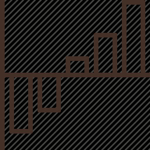 bar, graph, net, summary, worth icon