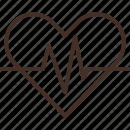 ekg, electrocardiography, heart, signal icon