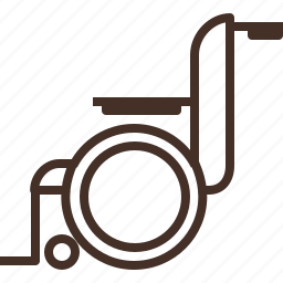 chair, disability, disable, person, wheel icon