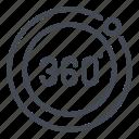 360 degree, 360 view, degree, panorama, view icon