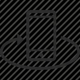 arrow, camera, device, mobile icon