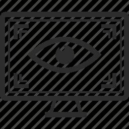 eye, screen, view, virtual reality icon