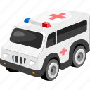 ambulance, car, transport, vehicle icon