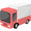 auto, automobile, cargo, transport, transportation, truck, van icon