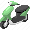 scooter, traffic, transport, vehicle icon
