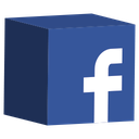 cube, facebook, media, set, social icon