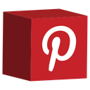 cube, media, pinterest, set, social icon