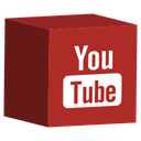 cube, media, set, social, youtube icon