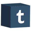 cube, media, set, social, tumblr icon