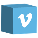 social, media, cube, set, vimeo