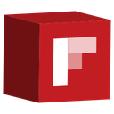 cube, flipboard, media, set, social icon