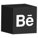 behance, cube, media, set, social icon
