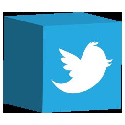 cube, media, set, social, twitter icon