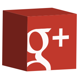 cube, google, media, set, social icon