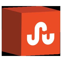 cube, media, set, social, stumbleupon icon