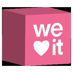 cube, media, set, social, weheartit icon