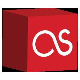 cube, fm, last, media, set, social icon