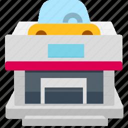 auto market, auto store icon