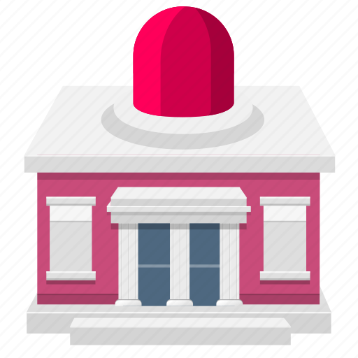 building, house, police icon