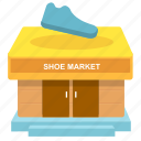 shoe market, shoe shop, shoe store icon