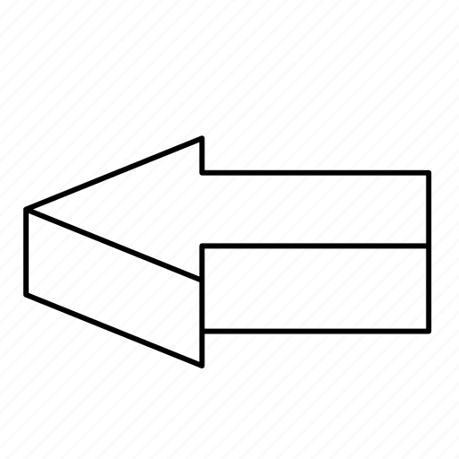 3d arrow, arrows, direction, isometric, left, navigation, pointer icon