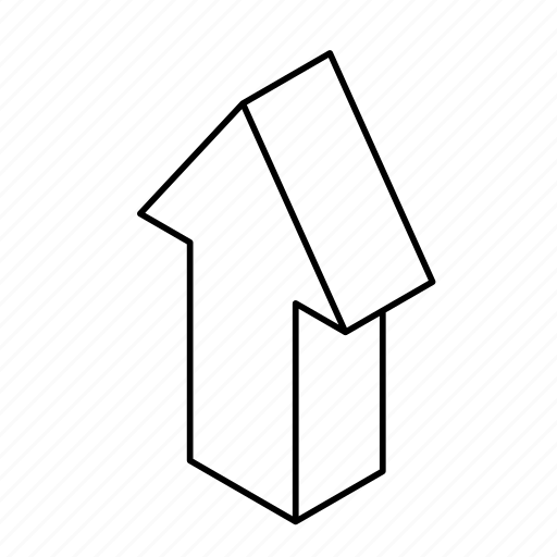 3d arrow, arrows, direction, isometric, navigation, pointer, sign, up icon