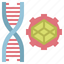 dna, edit, engineering, genetic, genetical, healthcare, medical, modification, structure, tools icon