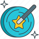 creation, magic, select, wand icon