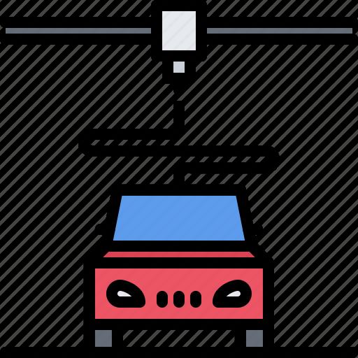 3d, Car, Gadget, Print, Printer, Technology Icon