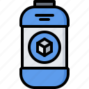 3d, bottle, gadget, paint, printer, technology icon