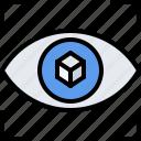 3d, eye, gadget, model, printer, technology, vision