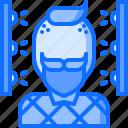 2, 3d, face, gadget, man, printer, scan, technology icon