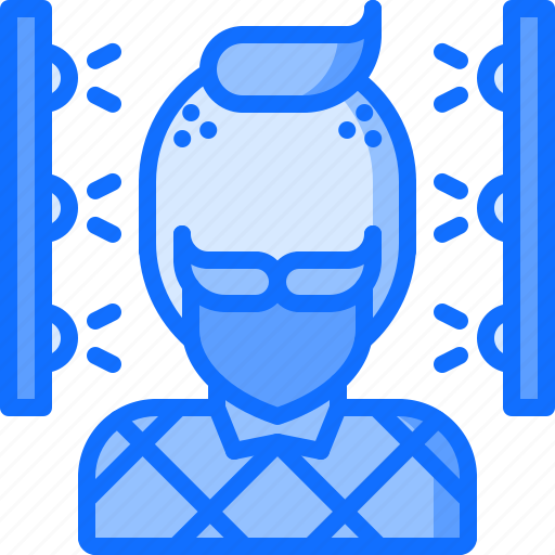 2, 3d, face, gadget, man, printer, scan, technology icon