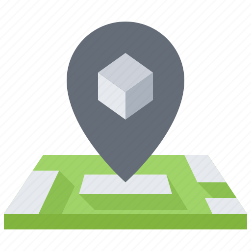 3d, gadget, location, map, pin, printer, technology icon