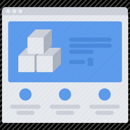 3d, cube, gadget, model, printer, technology, website icon