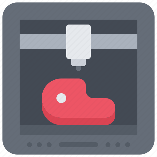3d, food, gadget, meat, print, printer, technology icon - Download on Iconfinder