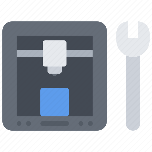 3d, gadget, printer, support, technical, technology, wrench icon - Download on Iconfinder