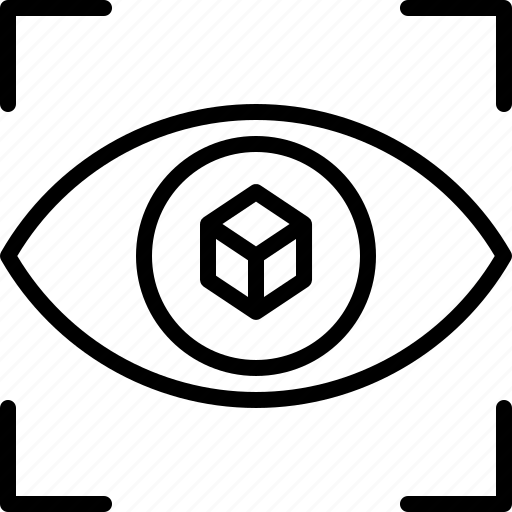 3d, eye, gadget, model, printer, technology, vision icon