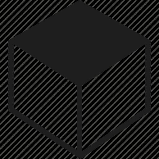 box, cube, dimensions, square icon