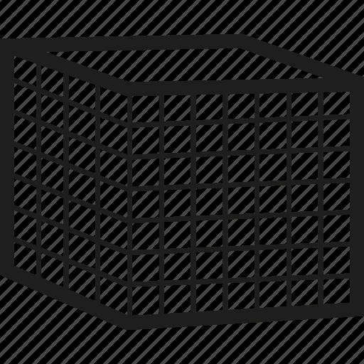 box, cube, grid, square icon